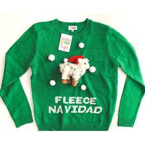 005d012e0 Lavender Moon · Lavender Moon ugly Feliz Navidad Christmas sweater